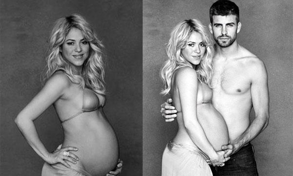 Шакира еще не родила. Беременная и обнаженная – она снимается для UNICEF