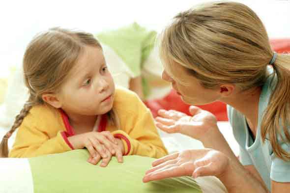 Поговори с ребенком, если он не прав