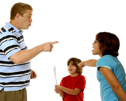 Родители кричат на ребенка незаслуженно