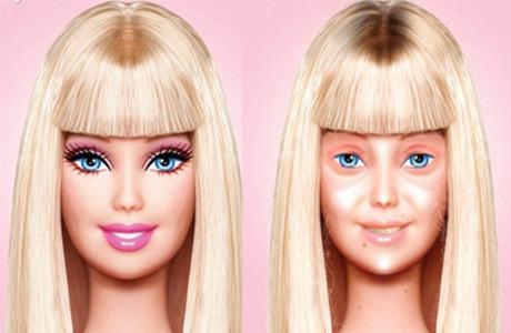 Если бы Барби продавалась без макияжа – она бы напугала детей!