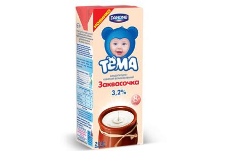 Вкусняшка для малышей: «Данон» предлагает Заквасочку «Тема»