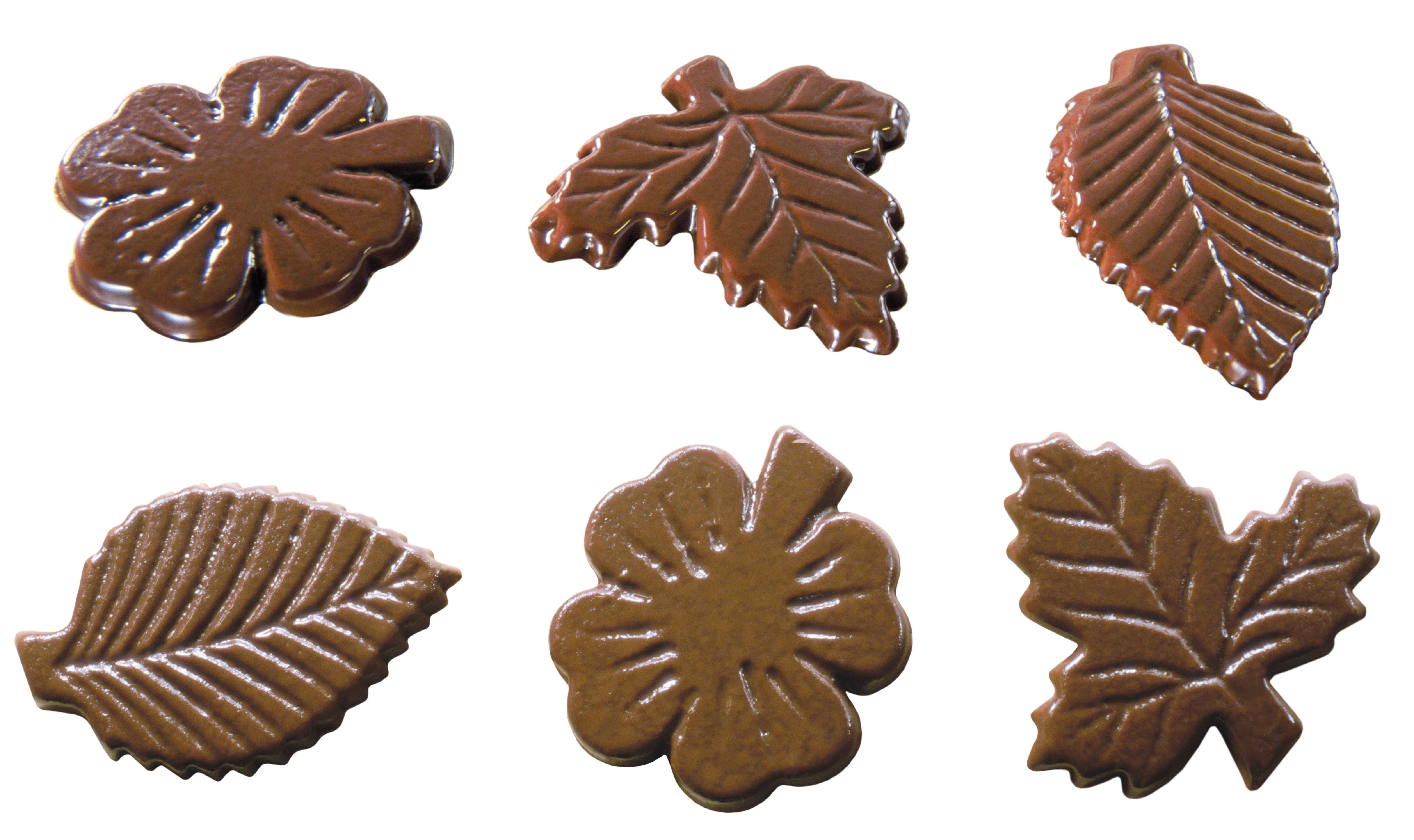 Шоколадные листики сделать очень несложно!