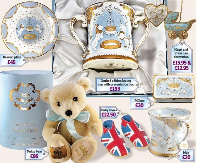 Подарки для Принца: новорожденный малыш Кейт блистает на всех сувенирах!