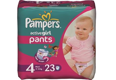 В чем еще преимущество трусиков Pampers Active Pants