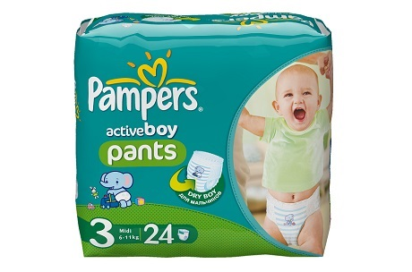 Трусики Pampers Active Boy и Active Girl