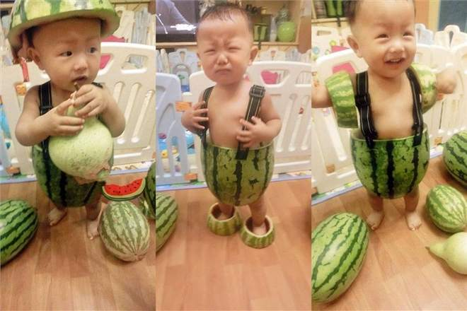 Новая мода для китайских детей: одежда из арбузных корок