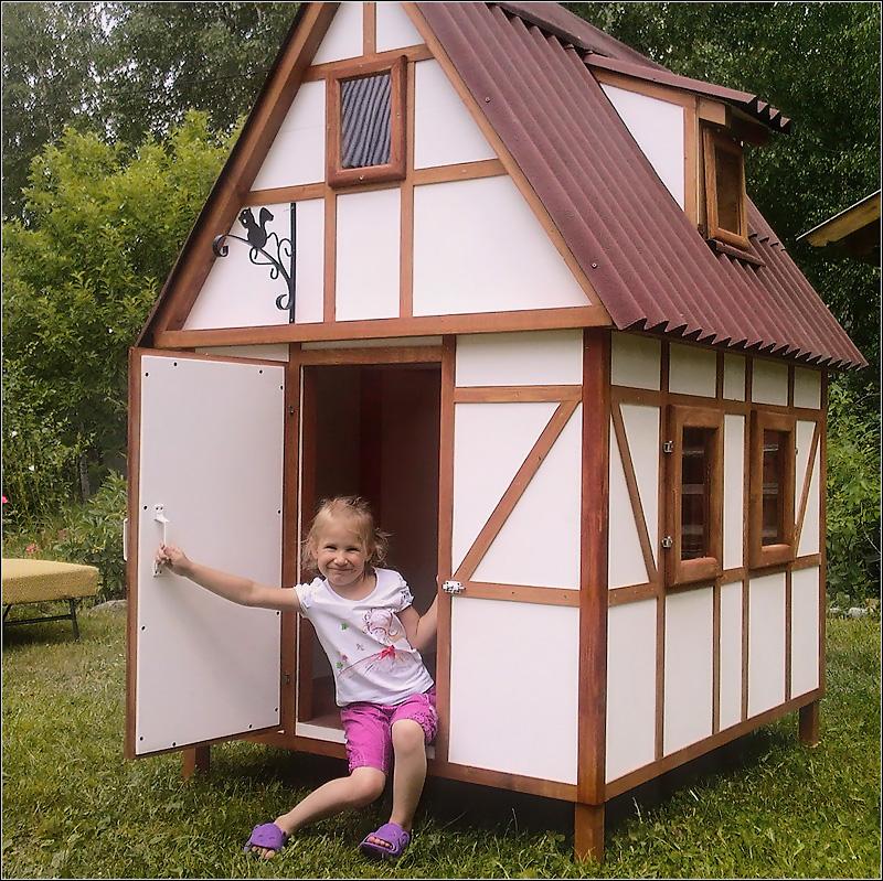 Изготовление домика для детей своими руками