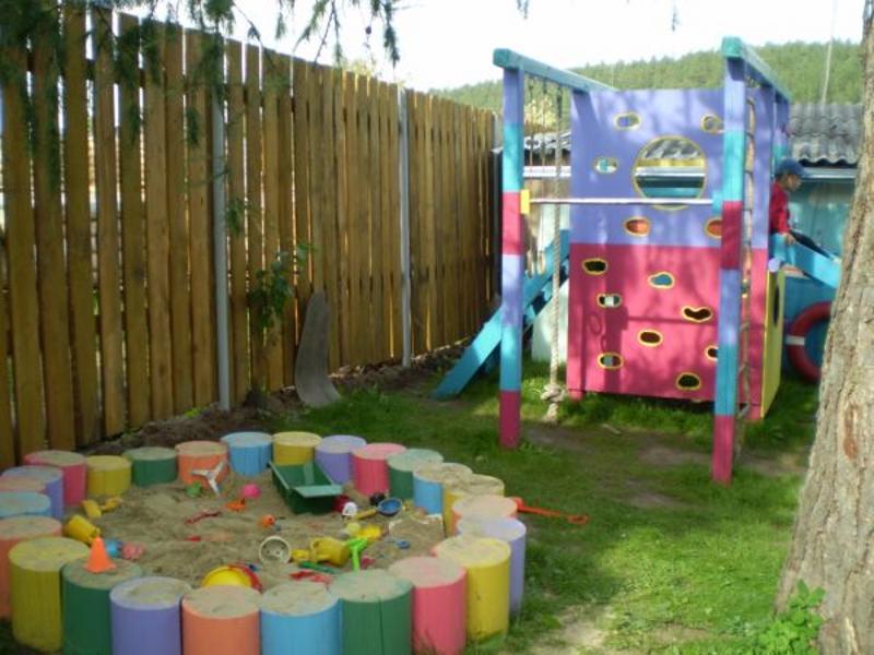 Детские площадки на дачу своими руками фото