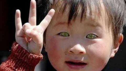 У этого китайского малыша глаза, как … у котенка!