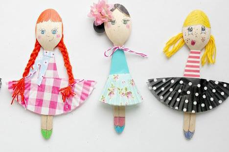 Кукла на ложке