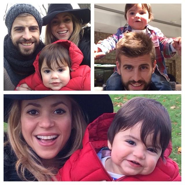 Шакира показала свежие фотографии сына и мужа