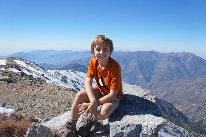 9-летний альпинист покорил на западном полушарии самую высокую гору