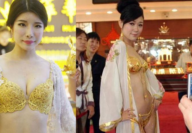 Золотые трусики: В Китайе создали белье из драгоценного материала