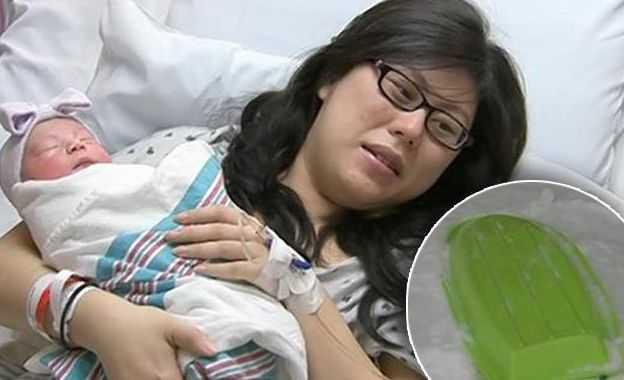 Экстрим-катание: Женщина родила малыша на санках