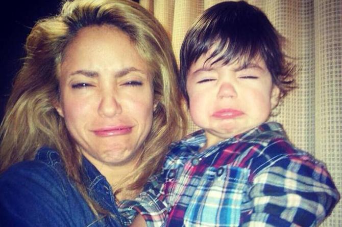 Родители-комики: Шакира кривляет своего сына на фото