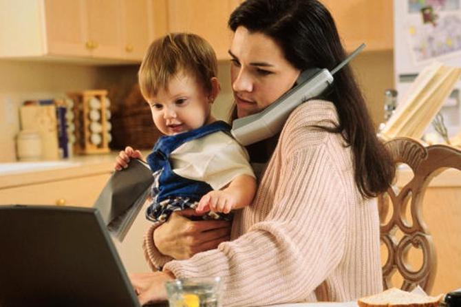 Дистанционная работа для молодых мам: Рассматривается новый законопроект