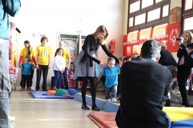 Наталья Водянова на спортивном празднике