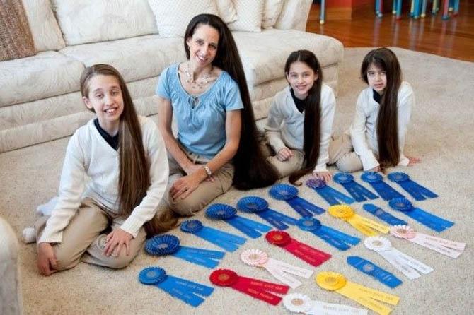 Родственники Рапунцель: В американской семье дети не стригут волосы с рождения
