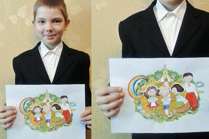 Рисунок украинского школьника стал лицом Google