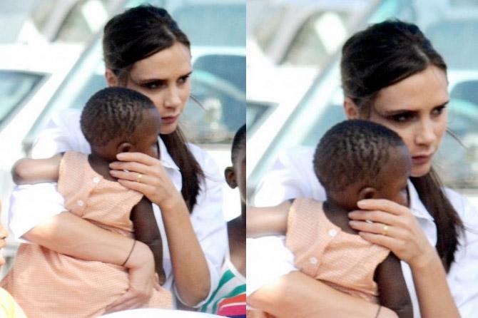Виктория Бекхэм удочерит темнокожего ребенка