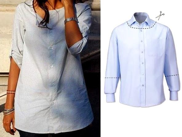 Переделай мужскую рубашку в блузу для беременных