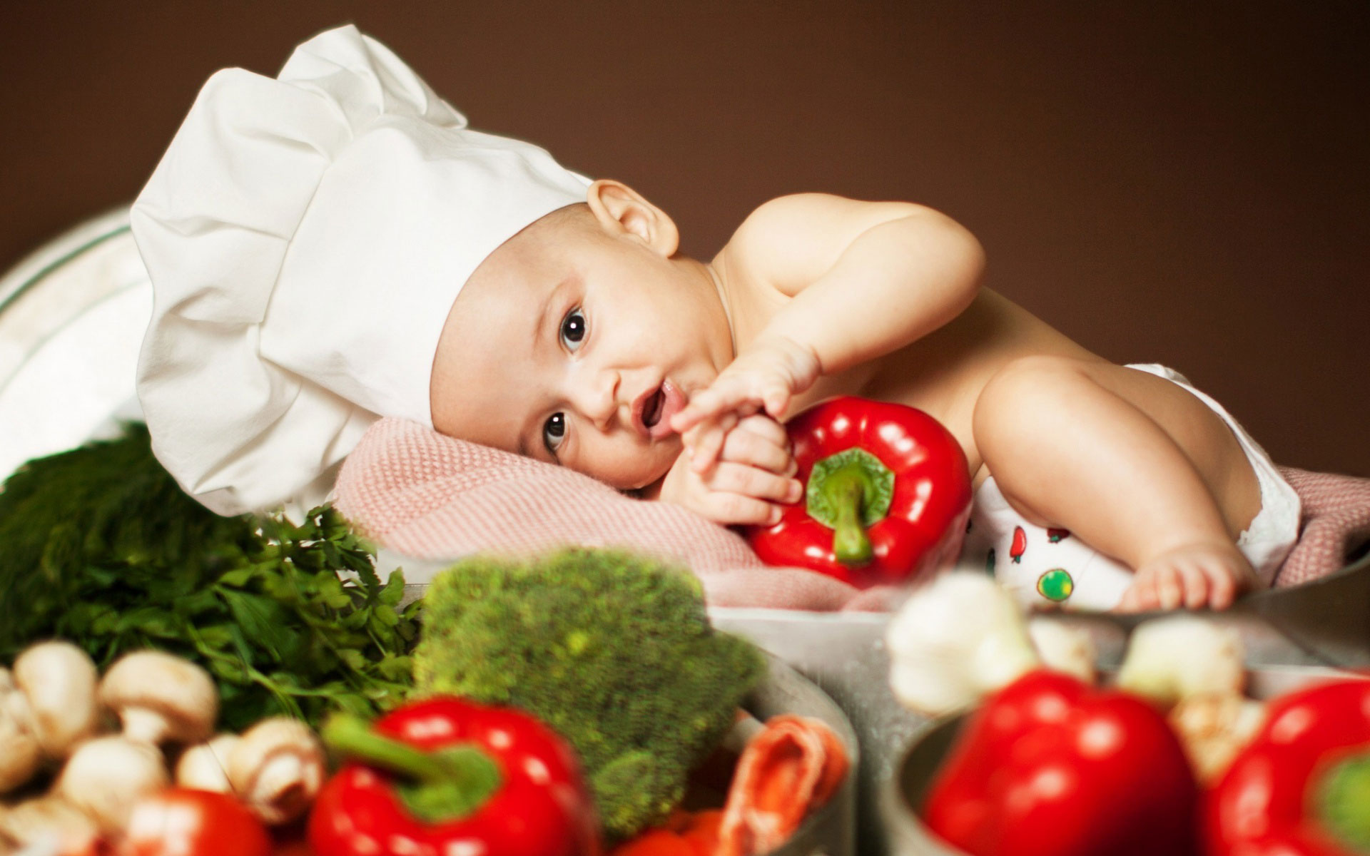 Дети и овощи фото
