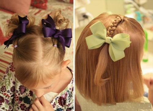 Прически детские на короткие волосы фото