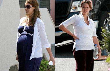 Беременная Джессика Альба – пример для подражания