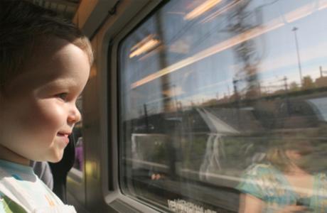 Ребенок 1-3 года в поезде