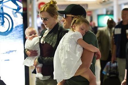 С Томом Крузом и детьми