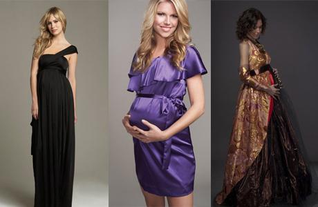 Выбираем вечернее платье для беременной