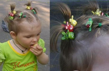 Прическа для самых маленьких девочек