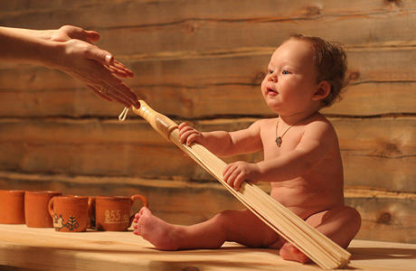 Дети и сауна