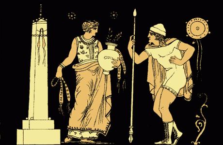 Согласно мифу, Электра дочь Агамемнона и Клитемнестры