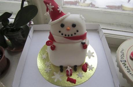 Торт снеговик для детей на праздник