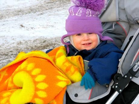 Ребенок зимой
