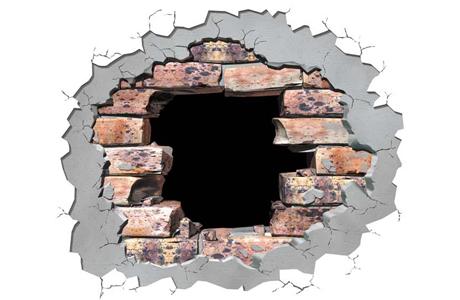 Биться головой о стену