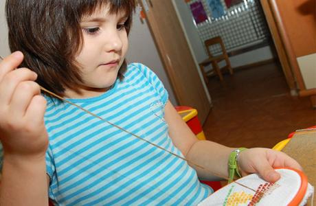 Тренировка для малыша - вышивка