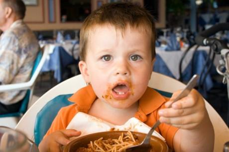 С малышом в ресторане