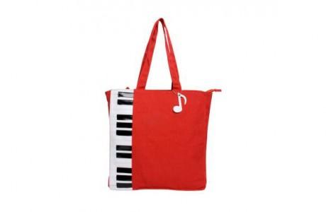 Cумка «Красное пианино хлопок»