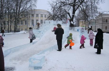 Опасности на ледяных горках
