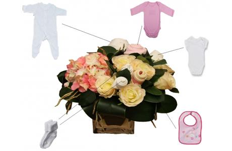 Букет из детской одежды в подарок