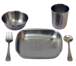 Металлическая детская посуда