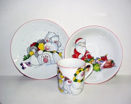 Фарфоровая детская посуда