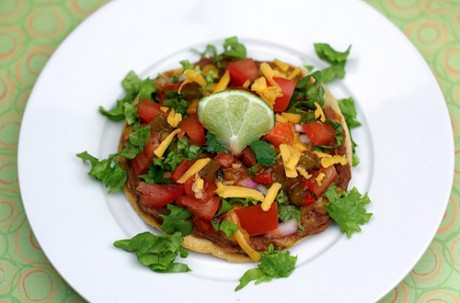 Полезное блюдо - тостадас с овощами