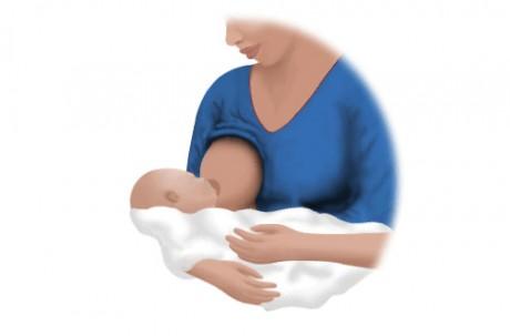 Позы для кормления  грудью - «Колыбелька»
