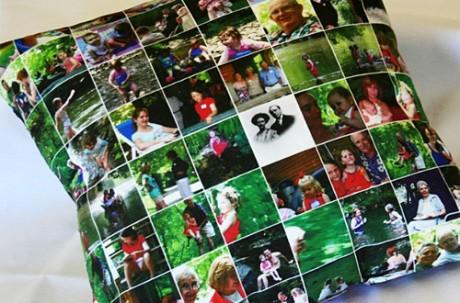 Подарки для мамы - подушка с фотографиями