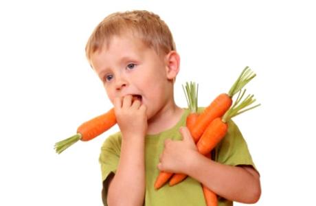 Морковь и дети