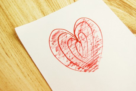 Нарисуй «Веселое сердечко»