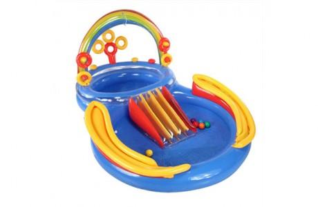 Детский надувной игровой центр - бассейн Intex